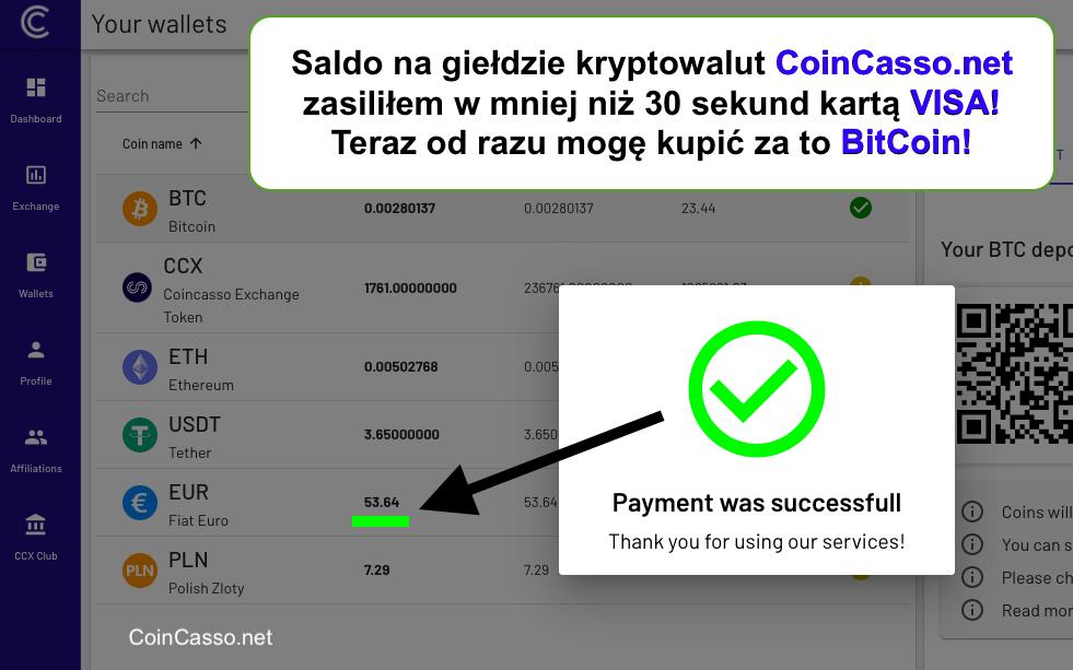 CoinCasso giełda kryptowalut