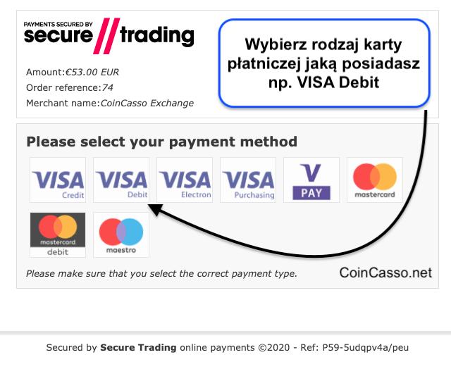 Jak kupić BitCoin kartą bankową