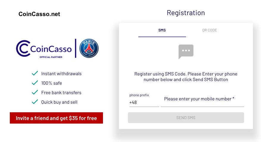 coincasso formularz rejestracyjny